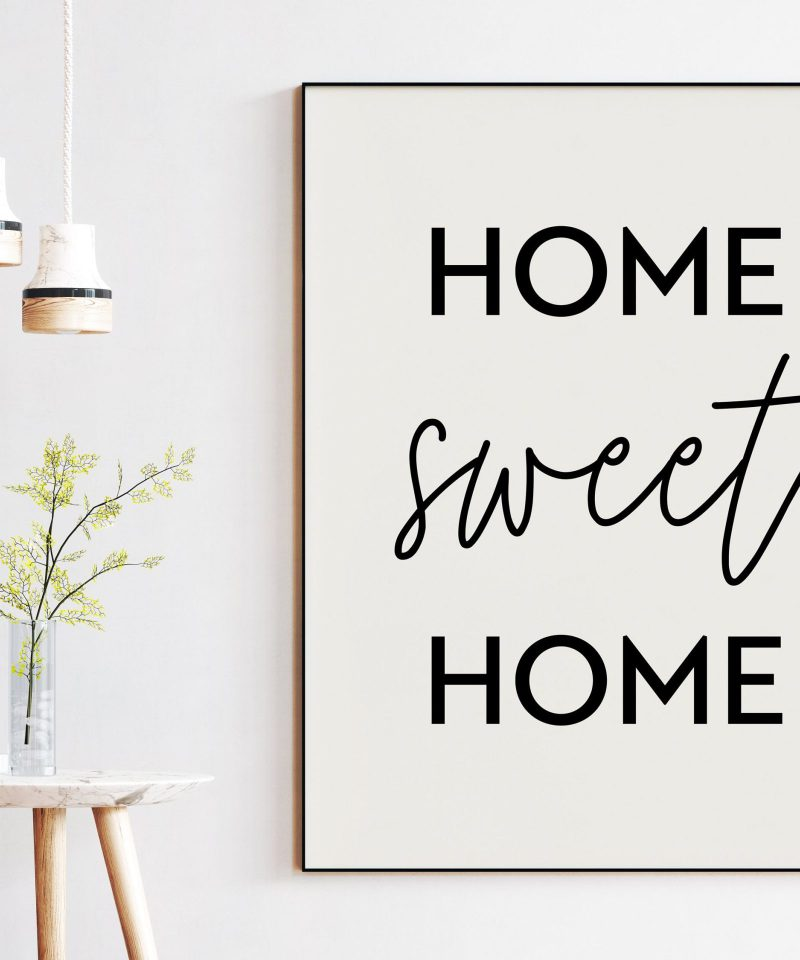 Home Sweet Home - Housewarming Gift - New Home - Realtor Gift - Gift for Friend - Typography Print