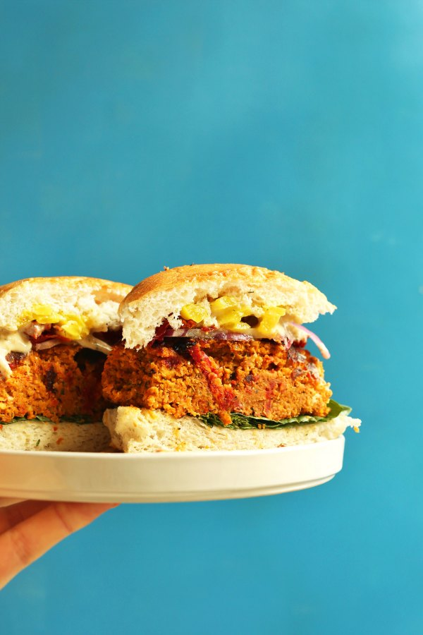 Sundried Tomato Chickpea Burger Minimalist Baker Recipes