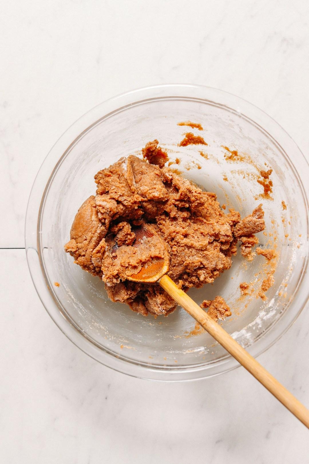 Masa de masa para galletas vegana sin gluten Snickerdoodle