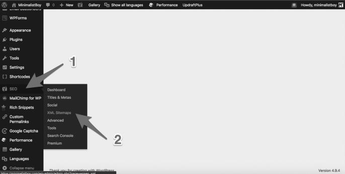 creazione della sitemap con yoast seo plugin su wordpress
