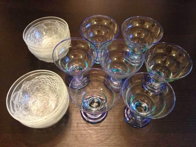 Dessertskålar glas