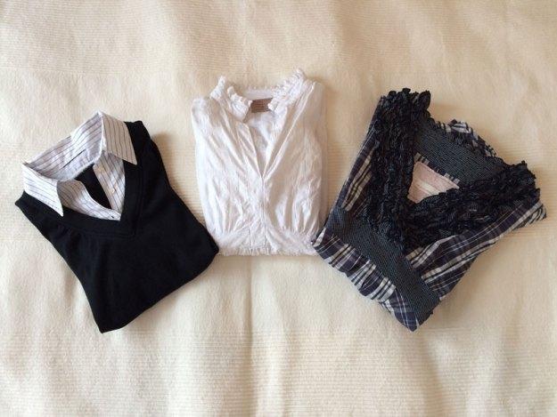 Två gravidskjortor och en vanlig blus från Odd Molly.