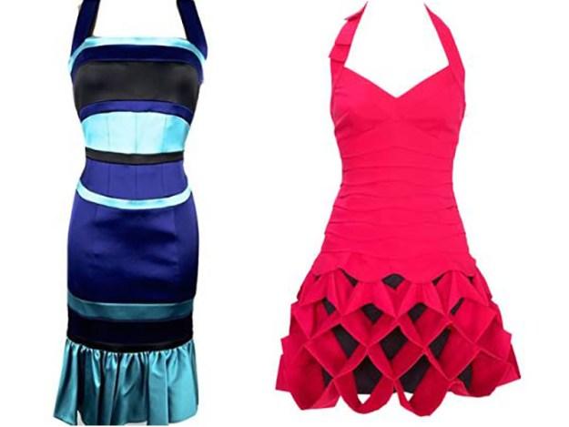 Två av Fru Minimalists klänningar som tidigare gav retroaktiv shoppingångest.