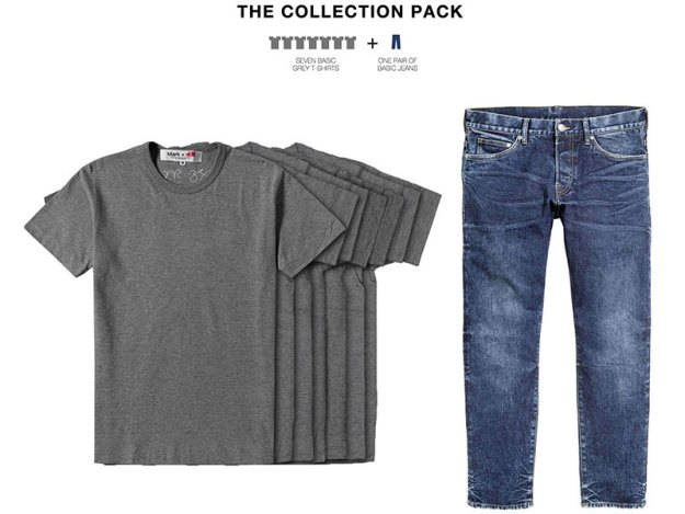 Mark Zuckerbergs Collection Pack för H&M. Bild från www.markforhm.com