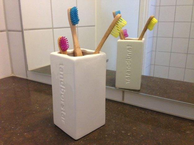 Så här ser det numera ut i Minimalisternas badrum.