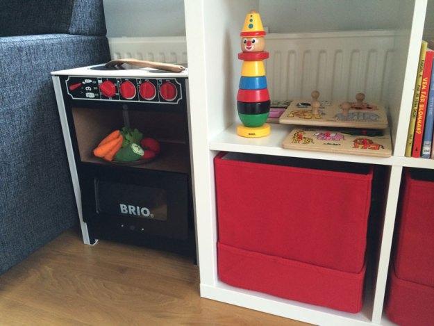 Blocketfyndad leksaksspis från Brio till Storasyster Minimalist.