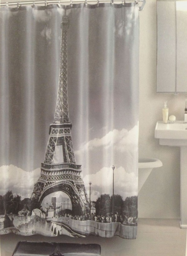 25 unique designer shower curtains in the bathroom for a good mood