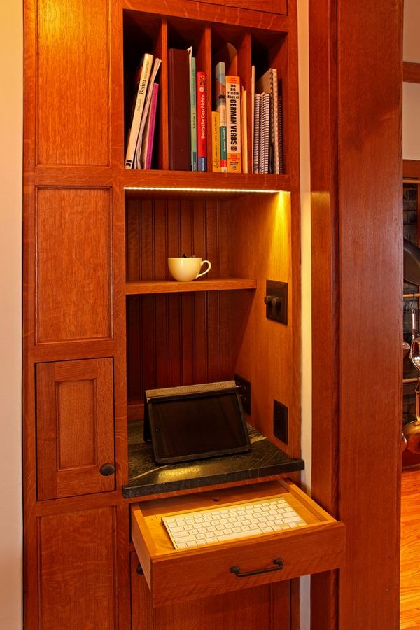 Compact Corner Fireplace Computer Armoire – A Useful Furniture Piece For A Small