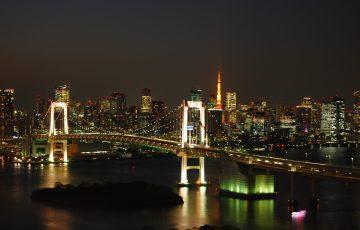 東京タワーとレインボーブリッジ