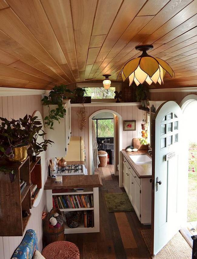 School Bus Conversion To Gorgeous Tiny House  Change The Code