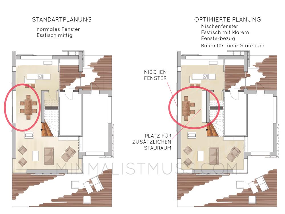 EG MIM Haus -Nischenfenster-Gegenüberstellung2