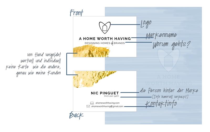 """Branding aufgeschlüsselt. Simpel, einfach, luftig, passen zum Thema """"MINIMAL IST MUSS"""" aber auch wertvoll und individuell wie jeder einzelne Kunde."""