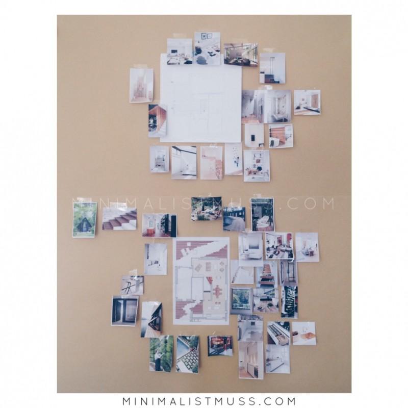 Mein Traumhaus - Visionboard in Arbeit von minimalistmuss.com