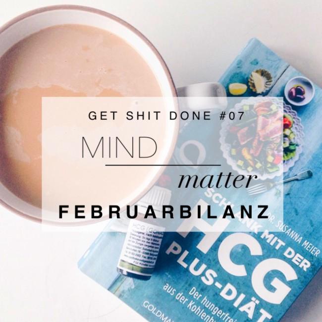 GET SHIT DONE: Mind over matter. Sich mit dem Kopf durchsetzen. die Februarbilanz bei minimalistmuss.com