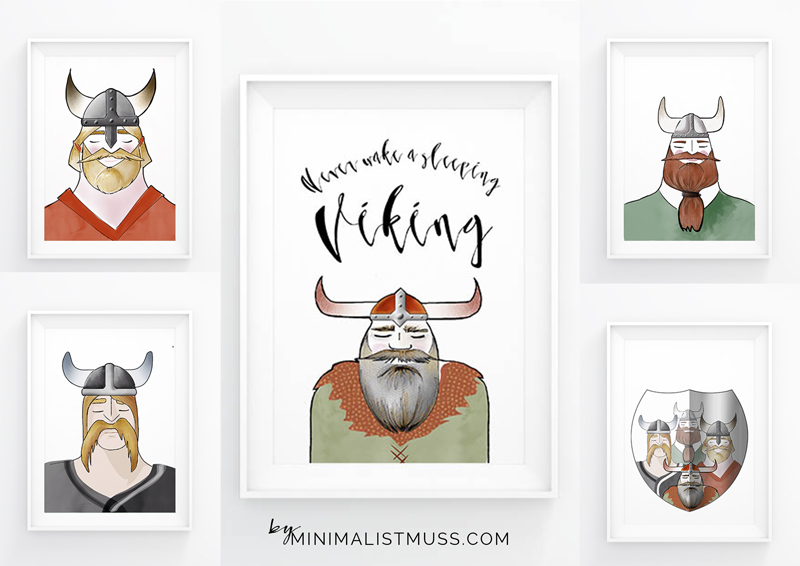 Never wake a sleeping viking horde - illustrations by Nic Pinguet