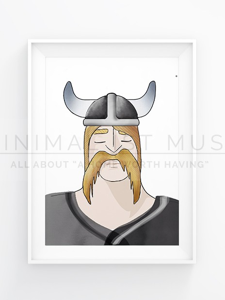 Ralf the sleeping Viking by Nic Pinguet