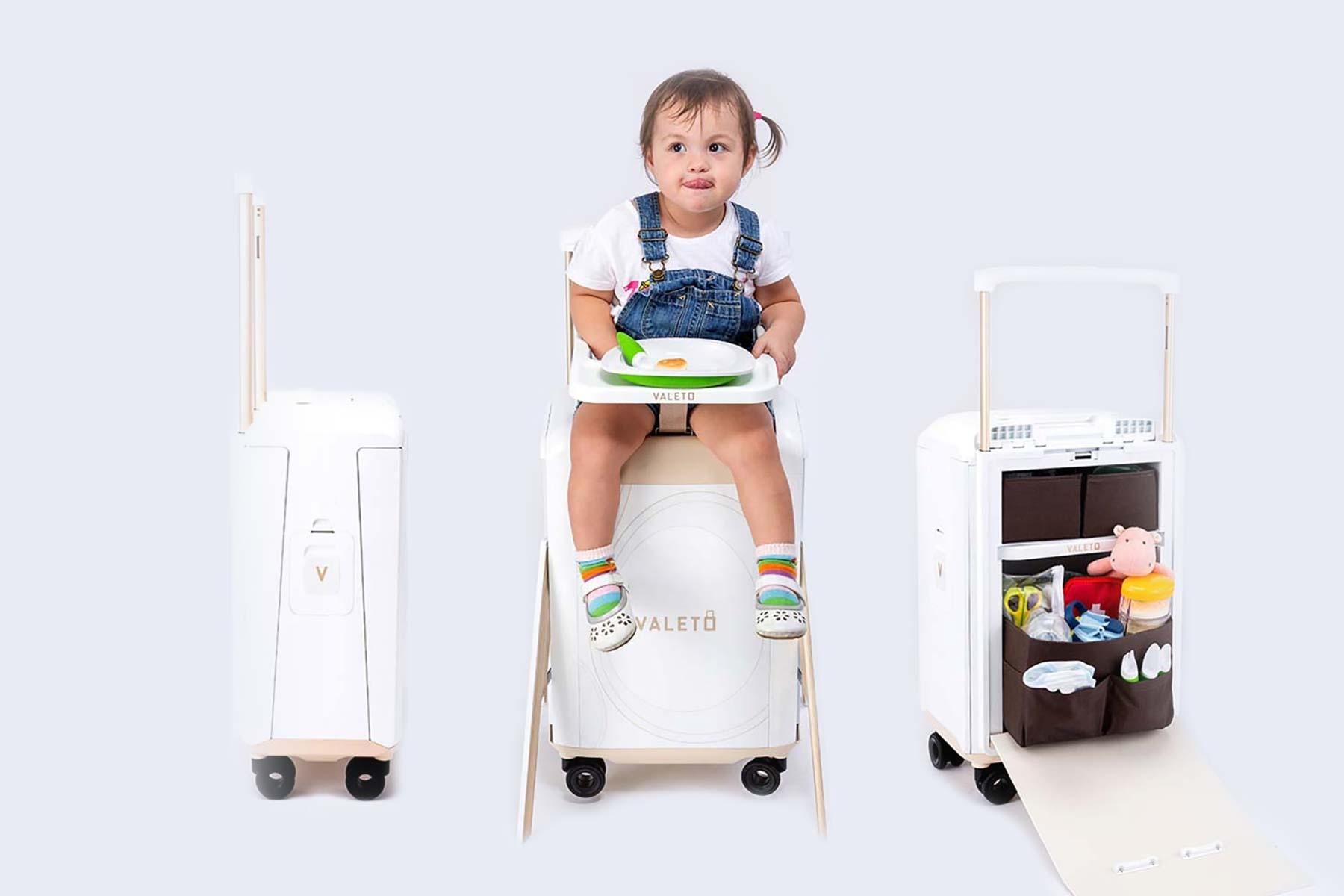 bag high chair sand travel meet the valeto suitcase  mini manzil
