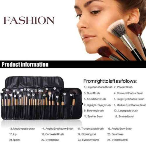 24Pcs Makeup Brushes