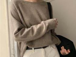 coffee cashmere sweater