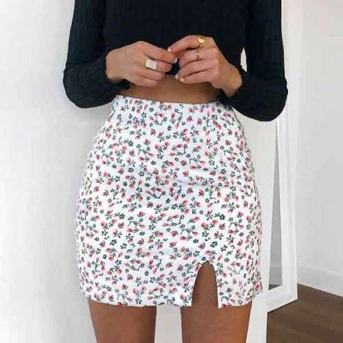 Printed Mini Skirts0