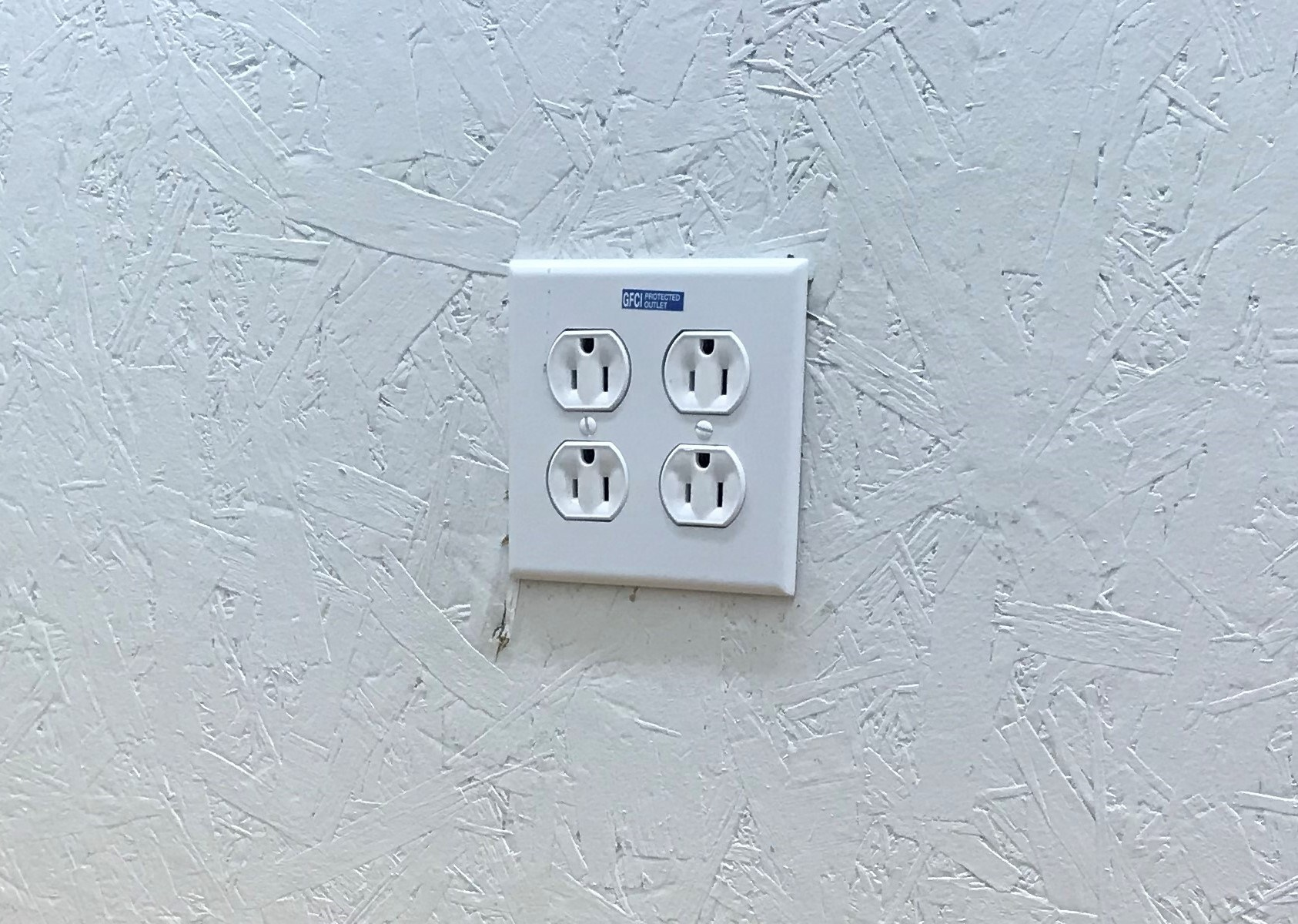 Outlets installed in wall