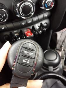 Der Schlüssel für den Mini Cooper