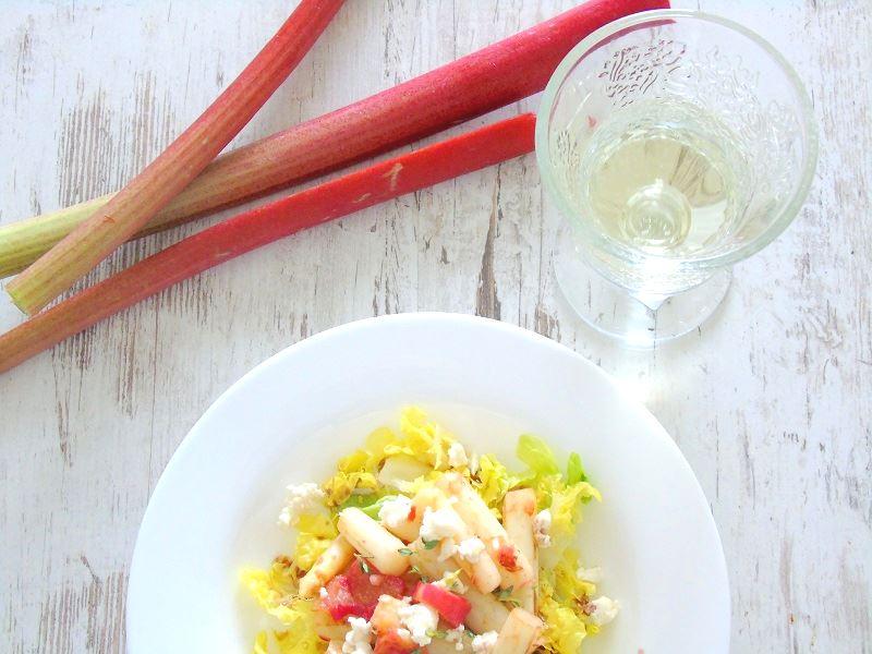 Rhabarber Spargel Salat