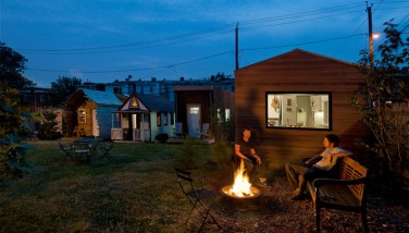 The original Minim House is located at the Micro Showcase in Washington DC, the country's only micro house showcase.