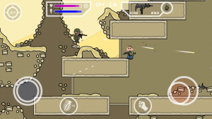 Game-play-Doodle-army-2-face-changed-custom-300x169 Mini Militia Invisible Hack + Add Face+ Background Change