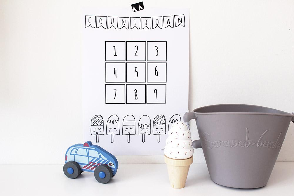aftelkalender kids printable