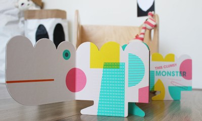 design origineel kinderboek the clumsy monster