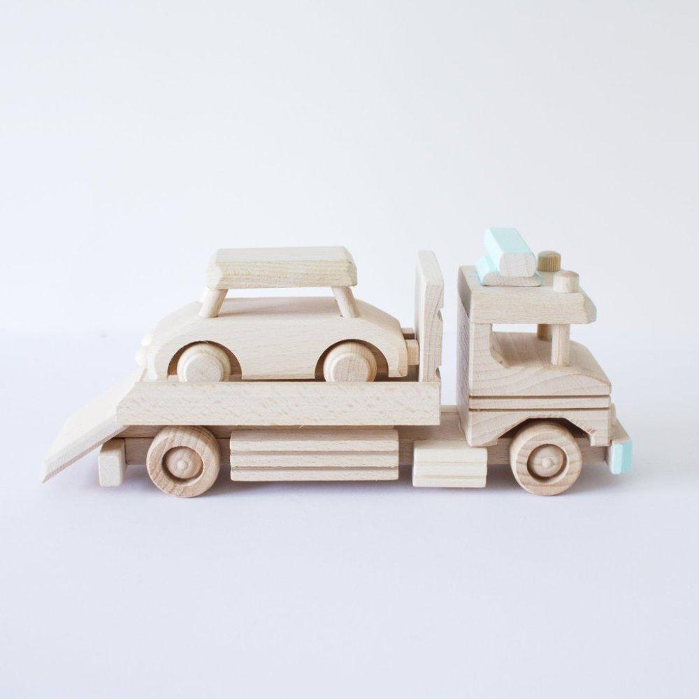 houten speelgoed auto vrachtwagen