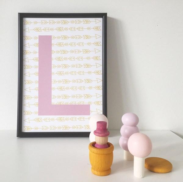 gepersonaliseerde kinderkamer poster minimixtape