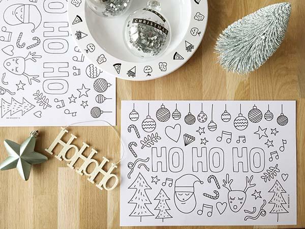 Gratis Kleurplaten Kerstman.Printable Kleurplaat Kerst Voor Tijdens Kerstdiner Minimixtape