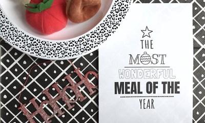 printable menukaart kerstdiner