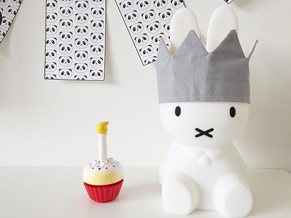 panda verjaardag feestje vlaggetjes