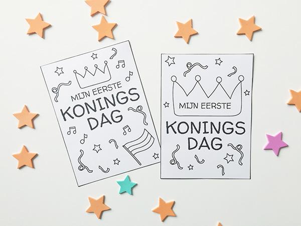 koningsdag printable milestone card