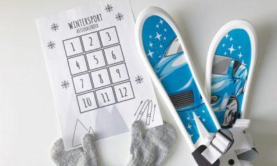 wintersportvakantie aftelkalender