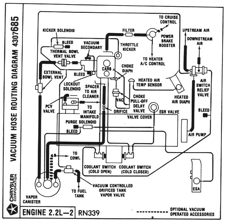 Pumps, Tubos, termo boiler: Vacuum hose routing diagram