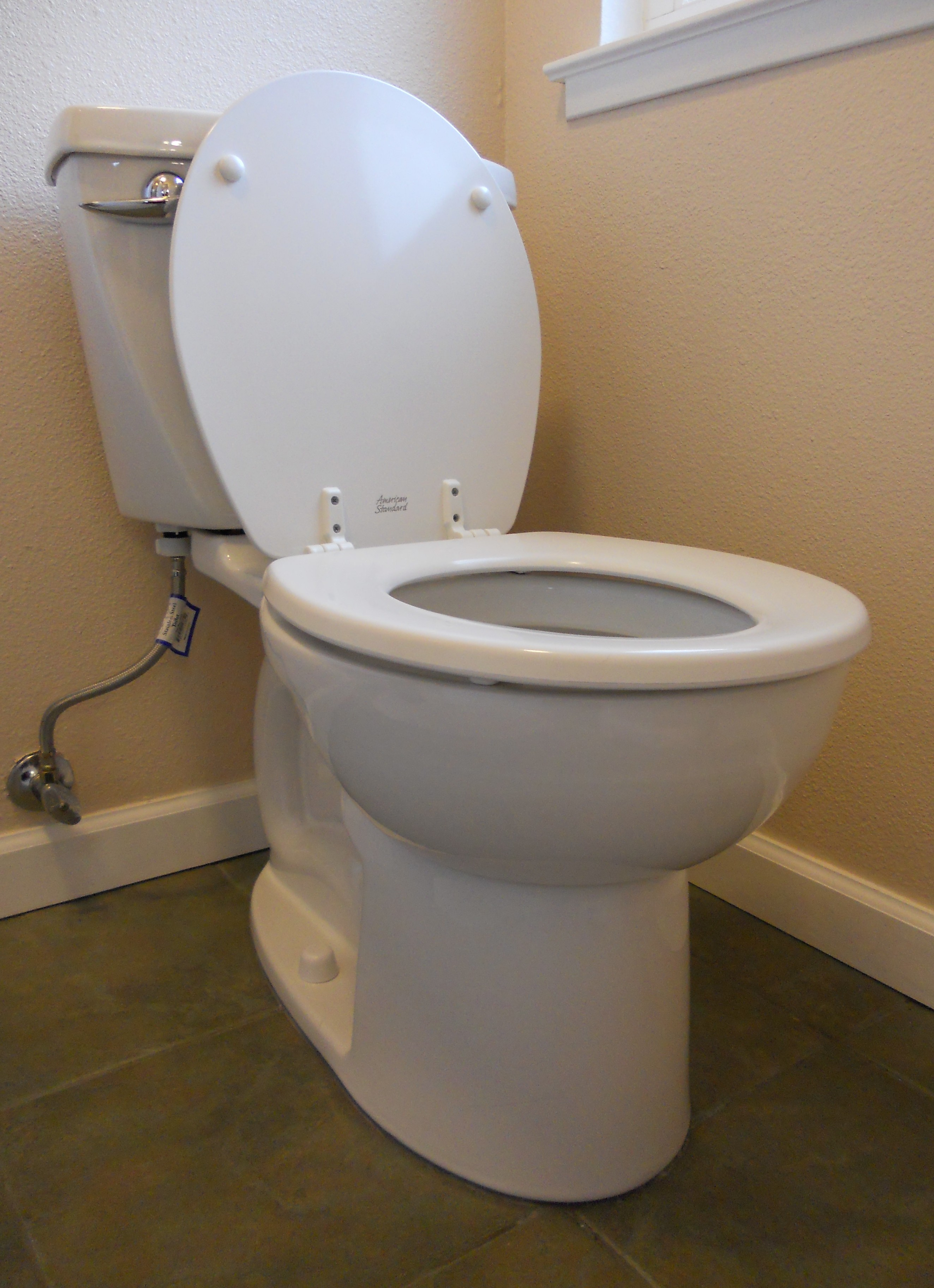a clean toilet all