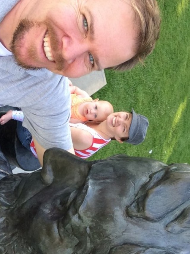 We went for a little walk at the park and ran into Abe