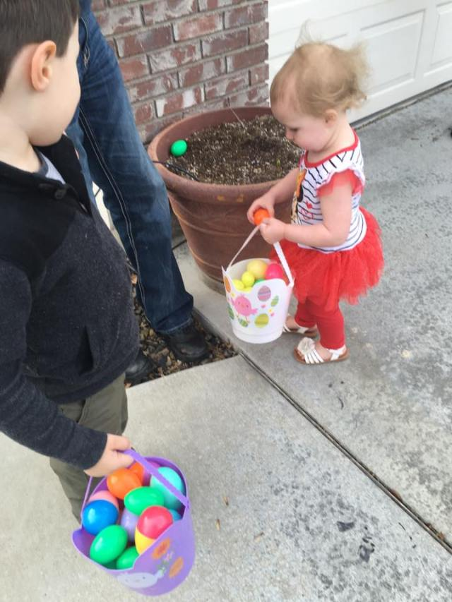 hazel had an absolute blast hunting eggs