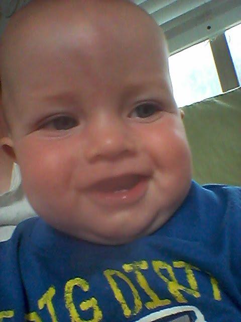 Miles's first selfie