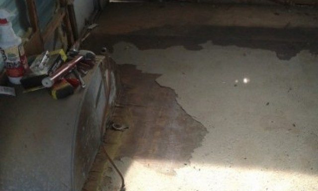 the original flooring and a couple layers above it are all out...