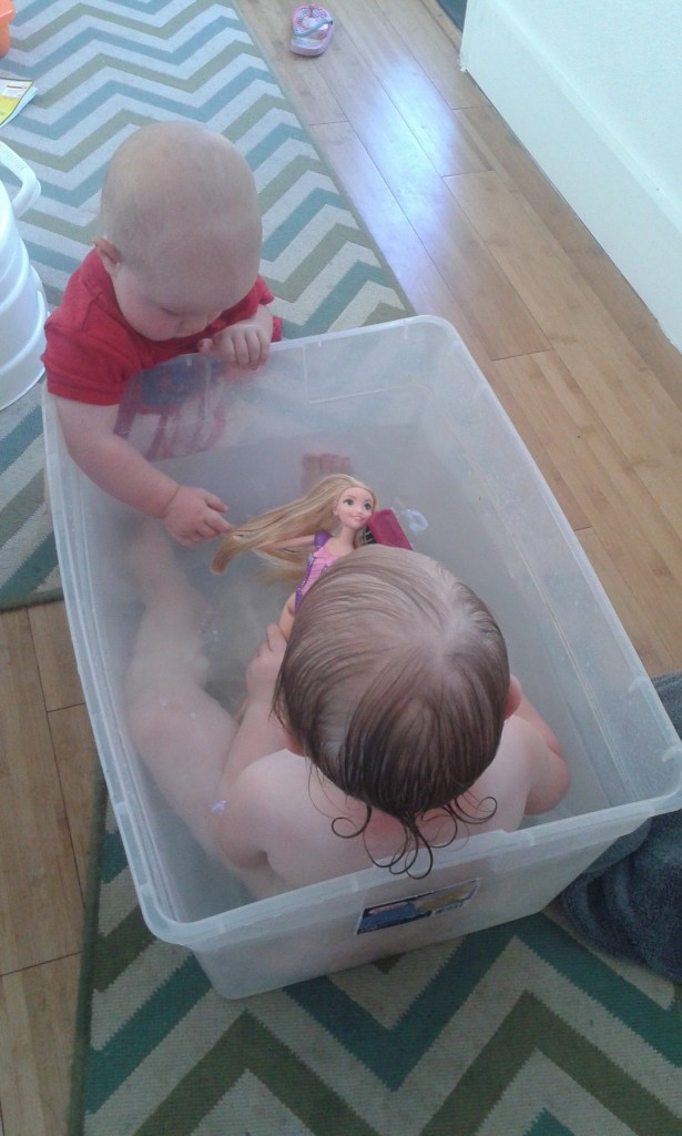 we're outgrowing the tub!