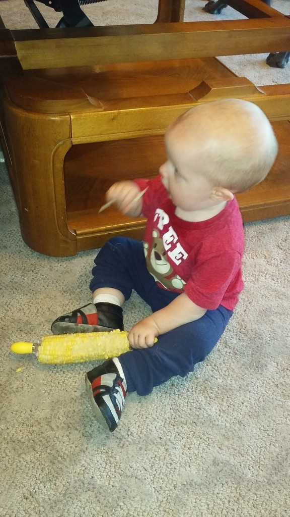 This is how Miles eats corn on the cob part 1