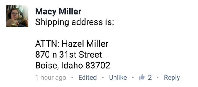 I realize this is generally private but it's only our address for another month or so, so, I am throwing it out in the public incase you want to make Hazel's day and send her a card or chip in for her cat rescue mission!