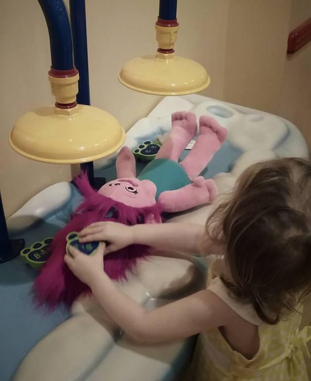 She got to maker her very own Poppy!