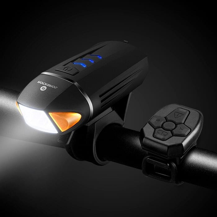 Rockbros Front Light With Wireless Remote Turn Signal and Horn YQ-QD450