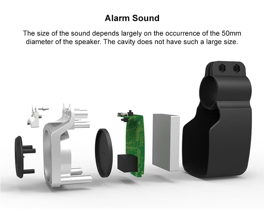 FEDOG Alarm with Rear Light F-110 p2